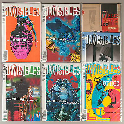 Invisibles #1-6 + 25 (Vol. 1), Lot of 7 VF Vertigo comics - Grant Morrison