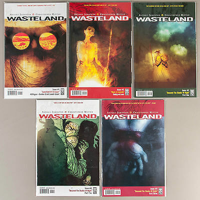 Wasteland #1-5, Lot of 5 Johnston/Mitten Oni comics, VF+ set