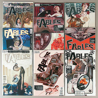 Fables #1-10, Full Run, Lot of 10 Vertigo comics, complete VF set