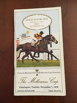 1978 Melbourne Cup Race Book (Arwon)