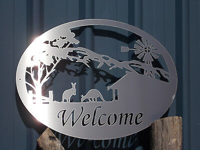 Welcome Sign Wall Art Stainless Steel