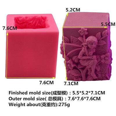 Creative 3D Angel Girl Soap Mould Candle Mold  Handmade Silicone Cake Mold