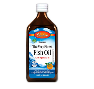 New Carlson Labs The Very Finest Fish Oil Gluten Free Fresh Dietary Supplement