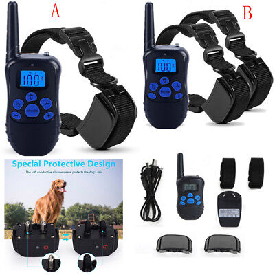Waterproof Rechargeable Remote Dog Non Shock Training Stop Bark Pet Trainer LCD