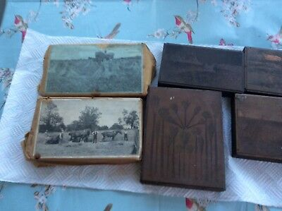 copper on wood printing blocks farm scenes and other offers Victorian I think