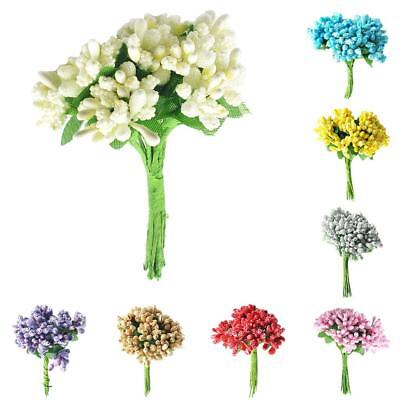 A Bunch of 12pcs Artificial Flower Stamens Pistil for Wedding Gift Wrapping