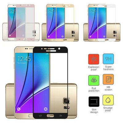 For Samsung S7 Edge/S8/S9+/Note8 3D Curved Temper Glass Screen Protector lot EC