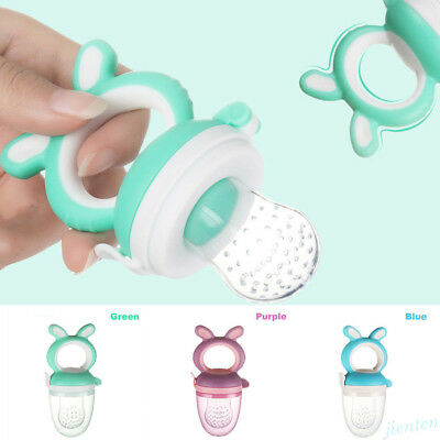 Baby Feeding Pacifier Soother Dummy Fresh Fruit Food Feeder Bite Nipple S M L