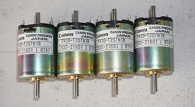 FOUR  7-pole Canon Precision DC motor 12V FN30 series  . Japan