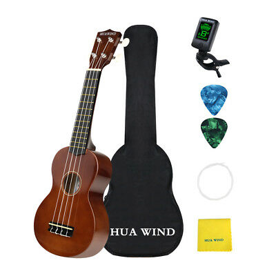 Soprano Ukulele 21inch Hawaii Kid Ukulele For Beginners with accessories- Brown