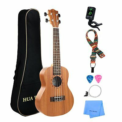 "CONCERT soprano Tenor 21 23 26"" UKULELE starter package WITH DURABLE PADDED BAG"