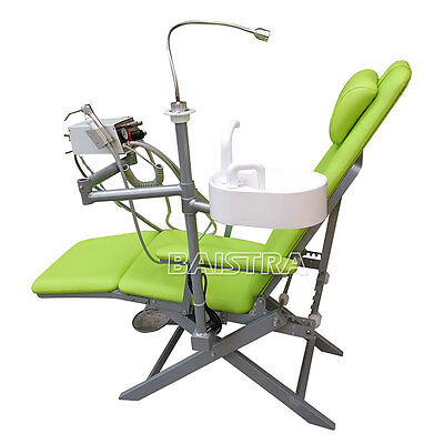 Dental Portable Folding Unit Chair With Turbine Unit + LED light