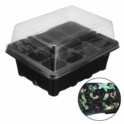 12Holes Plant Seeds Grow Box Insert Propagation Nursery Seedling Starter Tray EU
