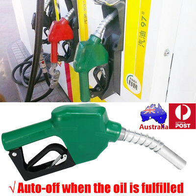 AU Fuel Delivery Gun Gasoline Diesel Petrol Oil Nozzle Dispenser Transfer Green