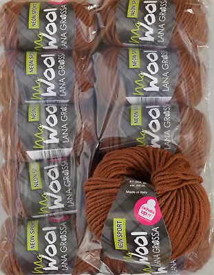 500g Wollpaket Lana Grossa McWool Sport Fb. 118, 10x50g Wolle Paket zum Stricken