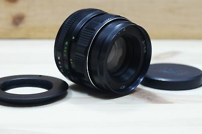HELIOS-44M 58mm F2 SLR LENS lente bayonet Canon - EOS for Canon and m42