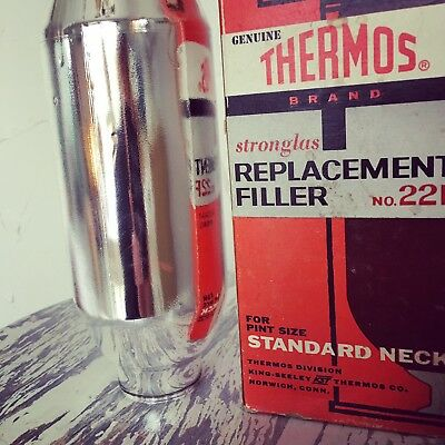 Vintage Thermos Stronglas Replacement Filler No. 22F Pint Size Standard Neck NIB