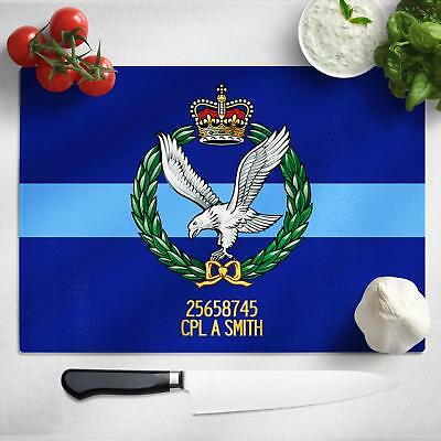 Personalised Army Air Corps Glass Chopping Board Cutting Worktop Saver MT05