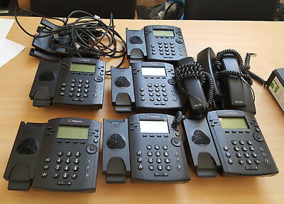 Polycom VVX 300 VoIP IP PoE Phone x 6 Job Lot in Good Condition