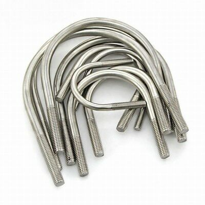 U Bolts Round Bend U-Bolt Clamp M6/M8 304 Stainless Steel Pipe Diameter 14~135mm