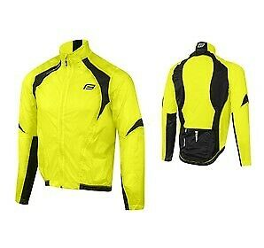 Giacca antivento bici FORCE X53 fluo-nero