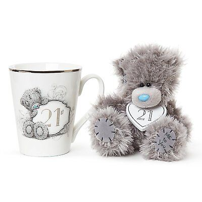 Mug and Teddy Bear 21st Birthday Gift