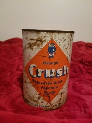 Vintage Orange Crush Syrup One Gallon Can