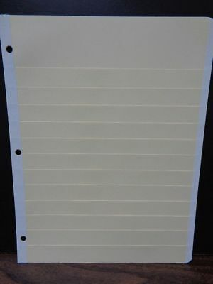 """Manilla stock pages sheets 12 row 8 1/2"""" X 11""""  X 25 for stamp collection NEW"""