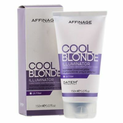 AFFINAGE ASP COOL BLONDE ILLUMINATOR TONER FOR BLONDE WHITE AND GREY HAIR 150ml