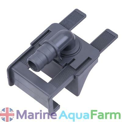 AQUARIUM CLAMP PIPE HOLDER, 12mm PIPE, TUBE, FISH TANK, FILTER INLET OUTLET