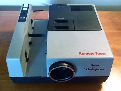Working Vintage Sears Slide Projector MODEL186-983101 Free Shipping!!
