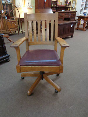 Stickley Mission Oak Office Chair  c.1980's Inv# CRW