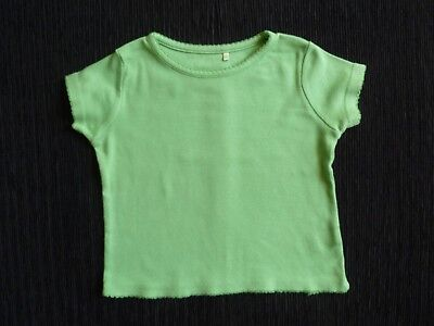 Baby clothes GIRL 18-24m mid-green short sleeve t-shirt soft cotton SEE SHOP!