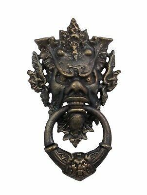 Door - Cast Iron Devil - Face Door Knocker # 18Xl4