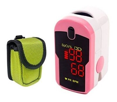 Fingertip Pulse Oximeter Blood Oxygen Saturation Monitor Oxywatch pink