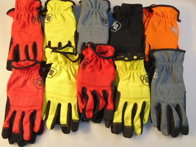 (10-Pack) Firm Grip Large Work Gloves Construction safety (Contractor Pack)