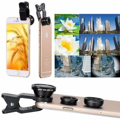 Universal Clip 3in1 fish eye Lens + Wide Angle + Macro Mobile Phone Lens Kit