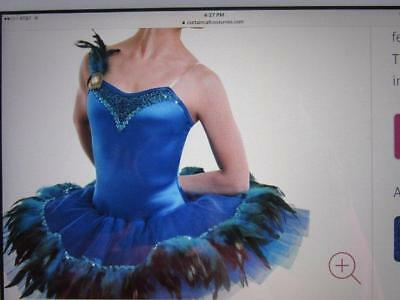 Feather Peacock Tutu Pleated Costume Ballet Curtain Call ASM AMED