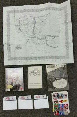 JRR Tolkien War in Middle Earth 1989 VTG PC Game Big Box 5.25 disks-w/ map