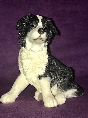 Border Collie Puppy Figurine Country Artists Collectible Sheep Herding Dog