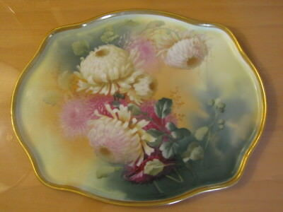 Antique Limoges Guerin  Hand Painted Tray Plate Signed by Artist E. Peeters