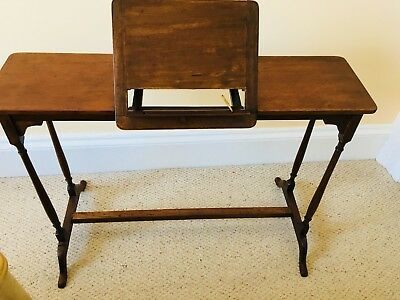 Unusual rare Antique Music, Writing Console Table