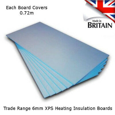 Electric Underfloor Heating Insulation Boards Trade 6mm XPS