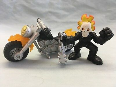 Marvel Super Hero Squad Flame Cycle & Ghost Rider Figure