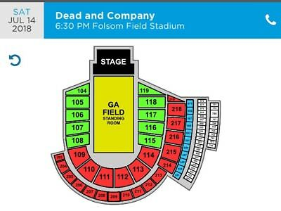 Dead and Company 2 Tickets For July 14 Show - Boulder