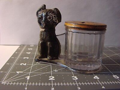 VG+ Early Dog w/ Barrel LE Smith Company c1912 Candy Container Penny Bank