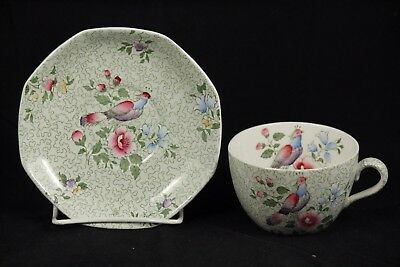 Antique Cup and Saucer Wessex by Winkle F 8580 England Dinnerware Collectible