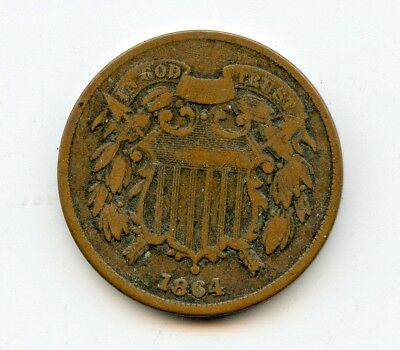 1864 TWO CENT ~ VERY GOOD  ~   *hucky*