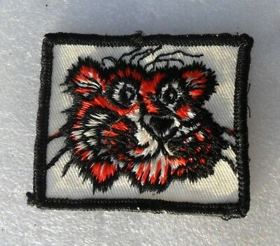 """SMALL VTG 1960s  EXXON ESSO GAS TIGER ADVERTISING PATCH 2.5"""" x 2"""""""