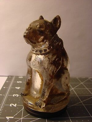 VG+ Orig. Paint Bulldog Victory Glass Co Candy Container